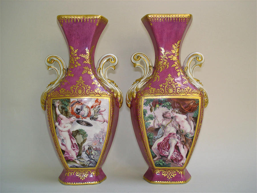 Chelsea pair of vases