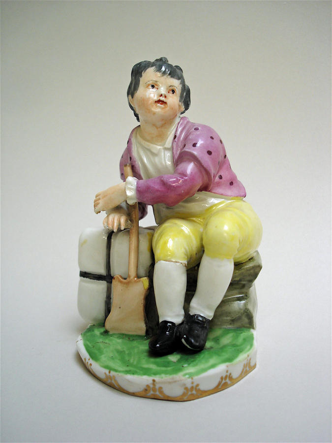 Vienna figure of a boy gardener