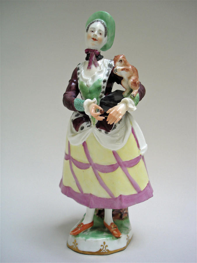 Vienna figure of a lady with a squirrel