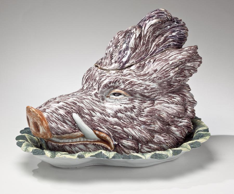 Delft boar's head tureen