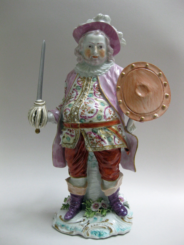 Derby figure of James Quinn as Falstaff