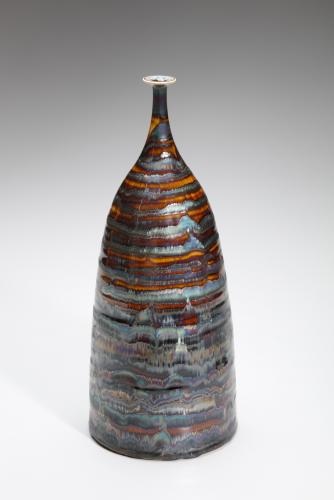 HIDEAKI MIYAMURA, BOTTLE WITH GOLD AND BROWN
