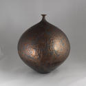 HIDEAKI MIYAMURA, VASE WITH BRONZE AND BLUE HARE'S FUR GLAZE - picture 2