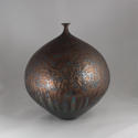 HIDEAKI MIYAMURA, VASE WITH BRONZE AND BLUE HARE'S FUR GLAZE - picture 3