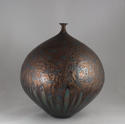 HIDEAKI MIYAMURA, VASE WITH BRONZE AND BLUE HARE'S FUR GLAZE - picture 4