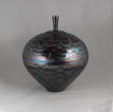 HIDEAKI MIYAMURA, JAR WITH BLUE WAVES - picture 2