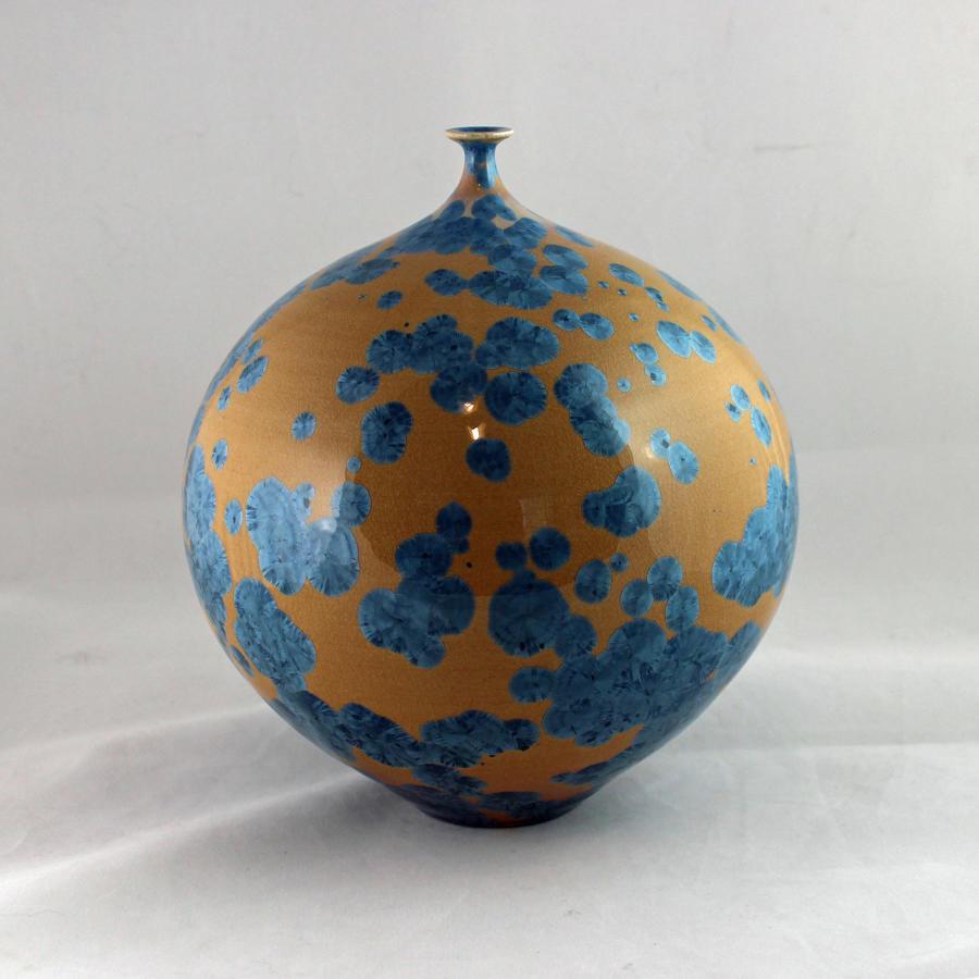 Hideaki Miyamura, Vase with Yellow Crystalline Glaze