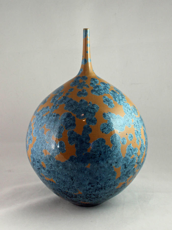 Hideaki Miyamura, Bottle with Yellow Crystalline Glaze