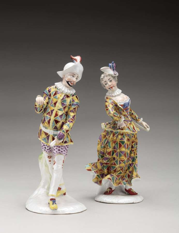 Fürstenberg pair of Harlequin and Harlequine